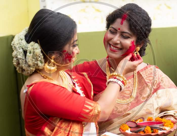 Holi Celebration or Durga puja Festival in Indian.
