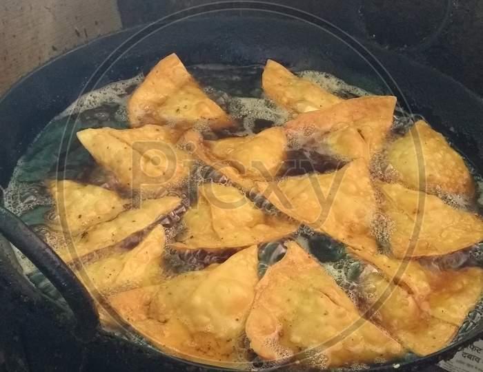 Indian street food called samosa