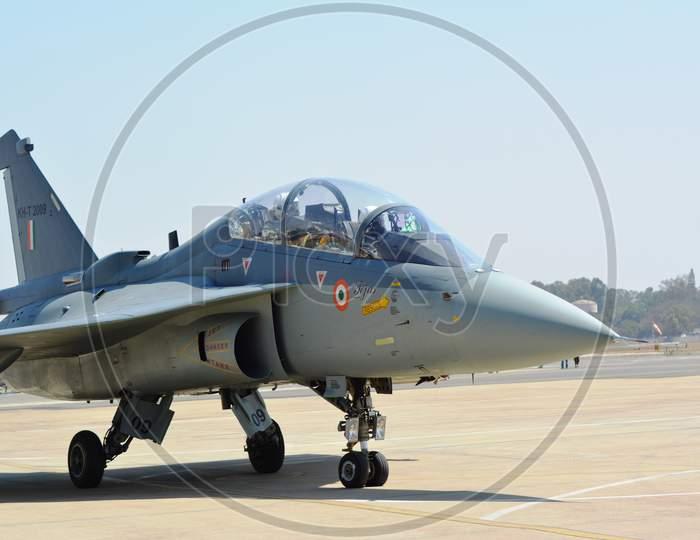 Tejas Light Combat Aircraft (LCA) landed safely on runway