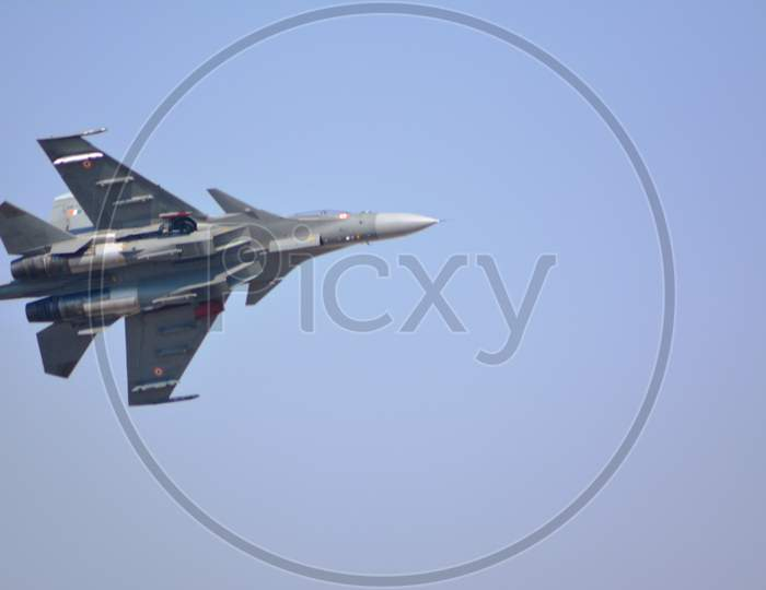 Sukhoi Su-30 in action during Air Show