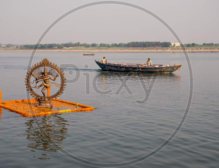 ganga river during dev diwali