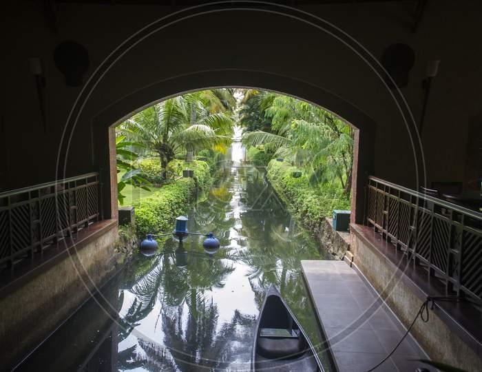 Back Water Creek At Kerala