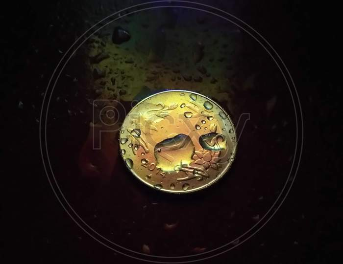 Background creative image of a coin