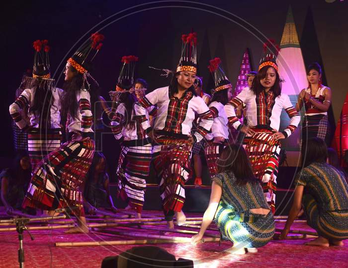 Artists from Mizoram  Performing their traditional dance