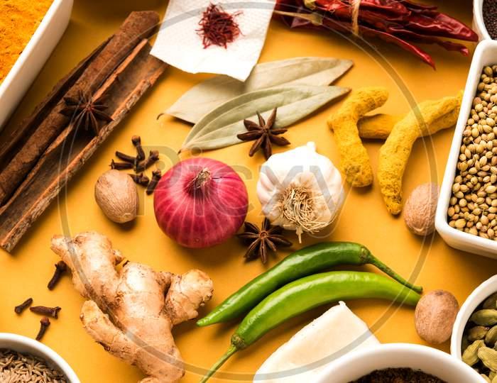 Raw Indian Spices or masala Powder