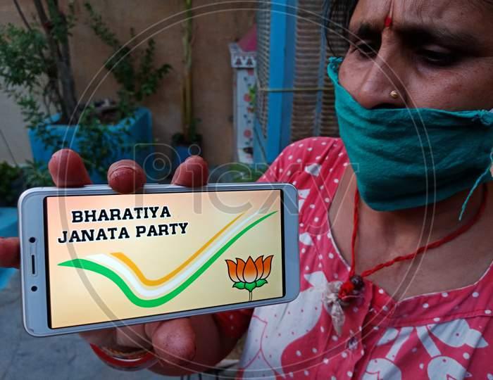 Indian Political Party Awareness Digital Concept.