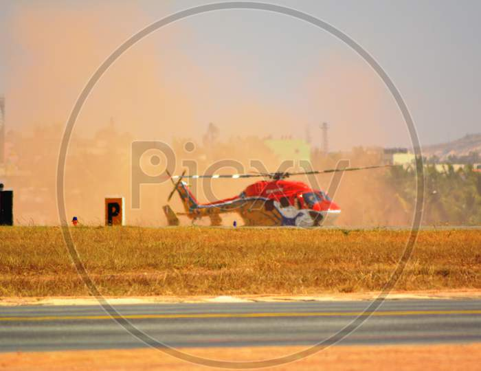 Sarang, the helicopter air display team of the Indian Air Force