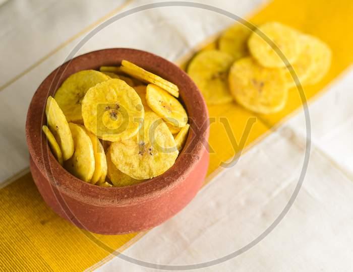 Kerala snack Banana chips for Onam festival