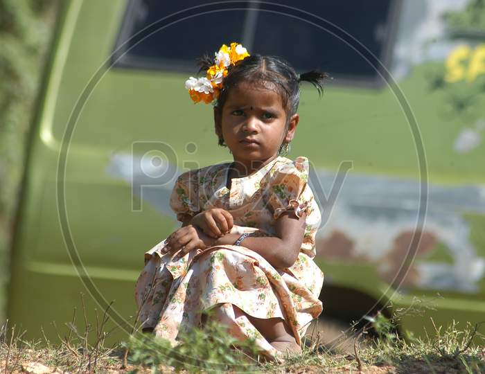 Indian Young Girl Child closeup