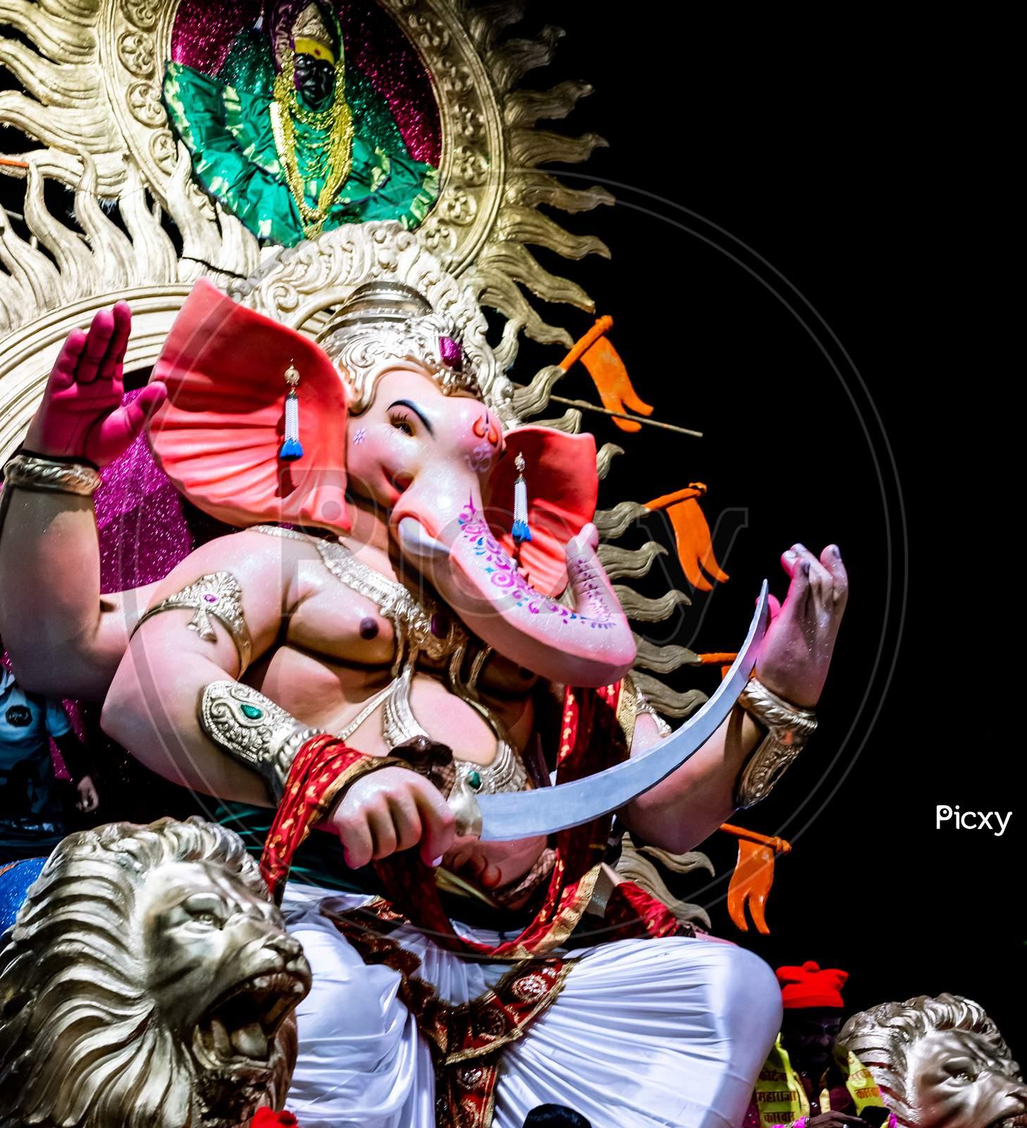 Ganesh chaturthi festival in Mumbai, India.