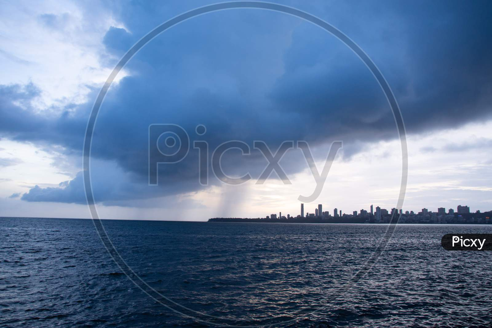 Monsoon in Mumbai, India.