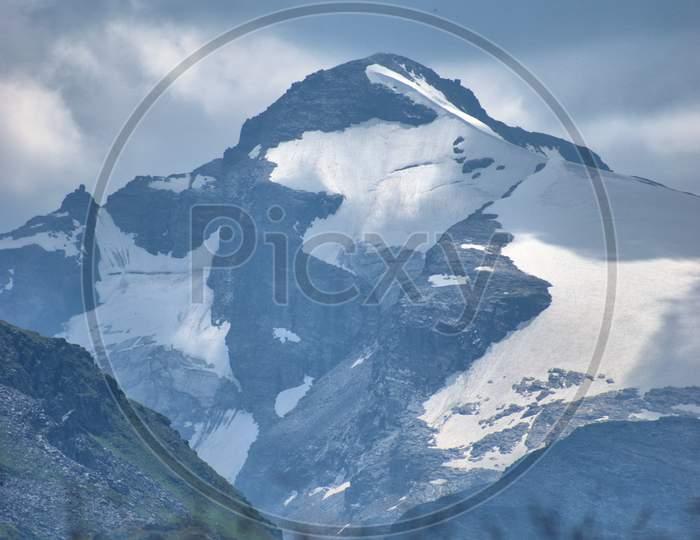 Amazing mountain peaks in Vals in the alps of Switzerland 31.7.2020