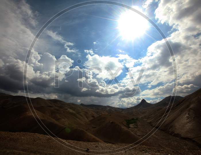 Mountains of Leh with Huge Clouds