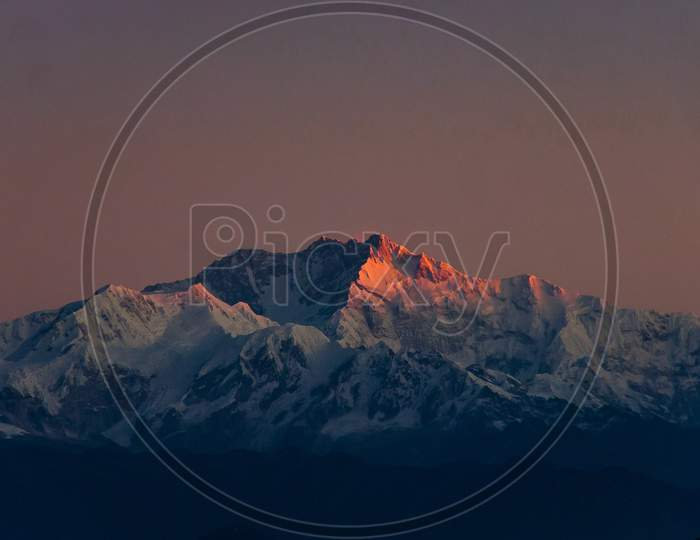 The Sun kissed the Mt. Kanchenjunga
