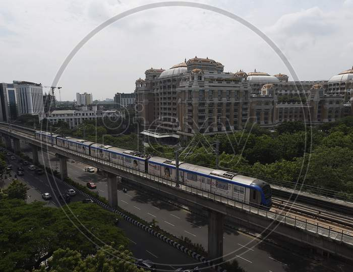 Metro Trains Run On Tracks Following Resumption Of Chennai Metro Services After Over Five Months Suspension Due To Covid-19 Outbreak, In Chennai, Tuesday, Sept. 8, 2020
