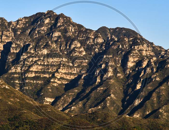Mountains Of The Juyongguan (Juyong Pass) In The Changping District, North Of Beijing