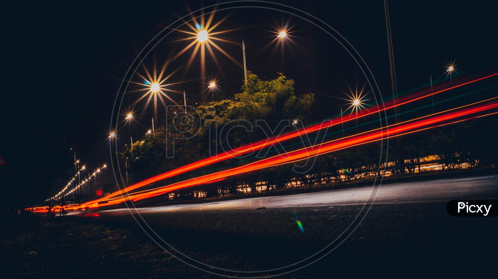 Night Trail photography Ring road