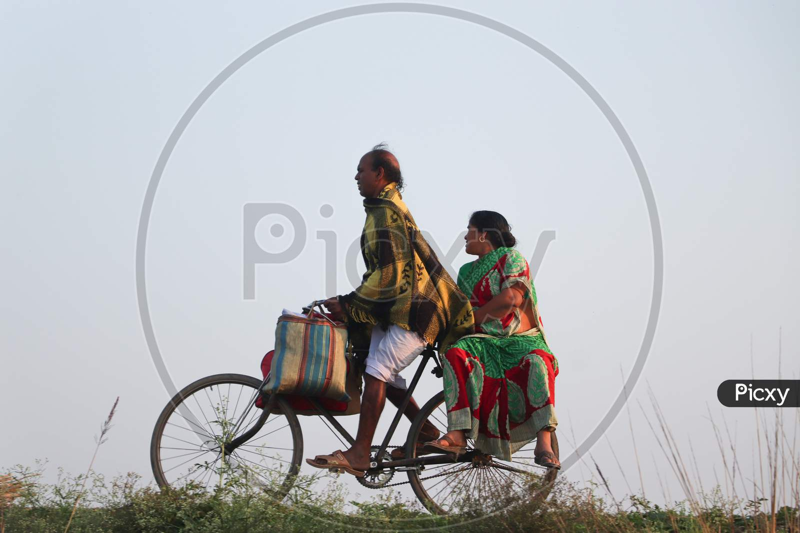 Back To Work Indian Couple