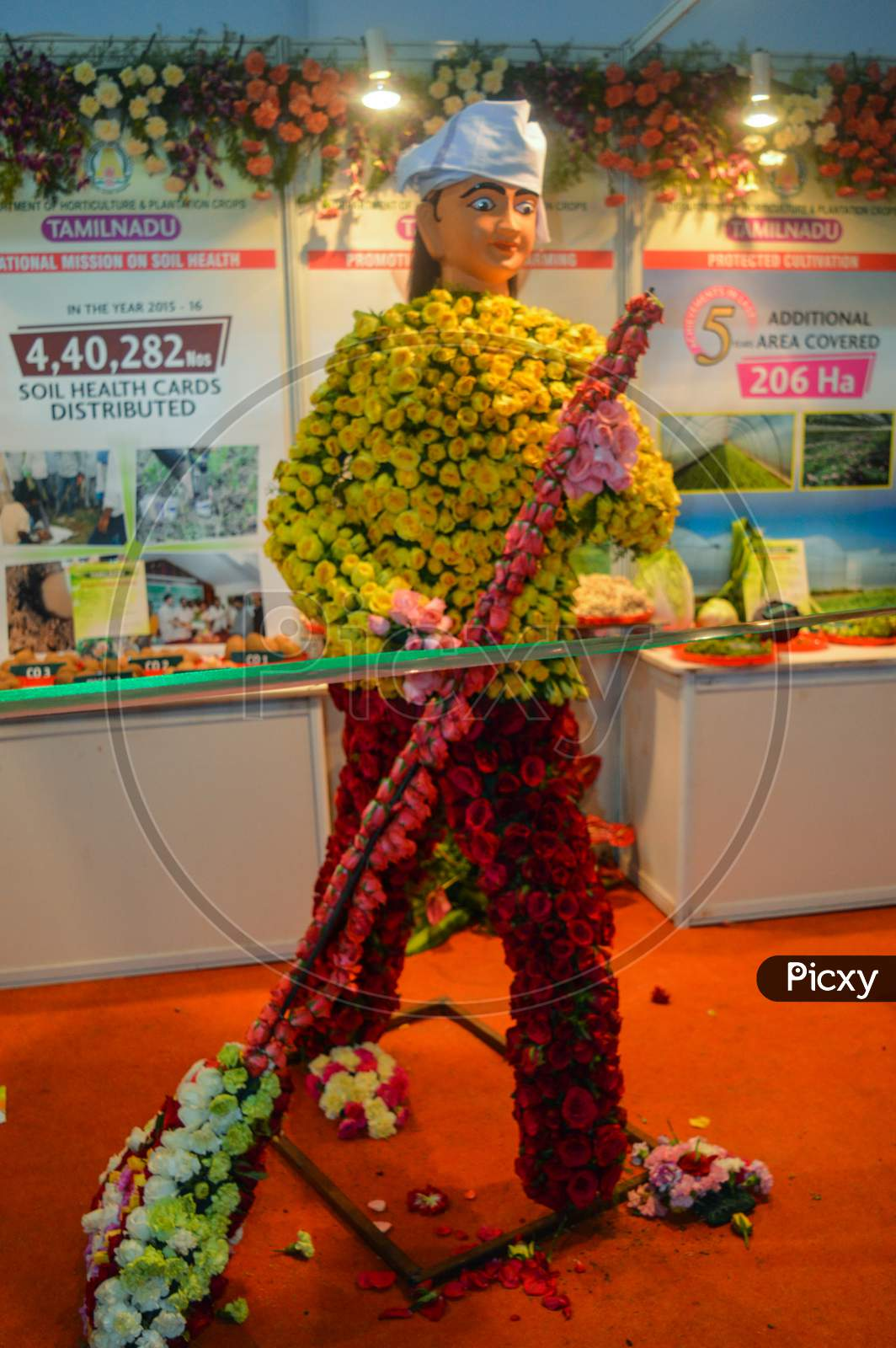 The Cleaning Man Which Is Made Of Cotton And News Paper, Flowers Are There For Exhibition At Pusa, Agriculture Festival, New Delhi.