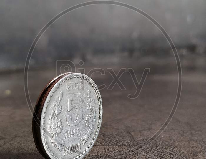 Five rupee coin image