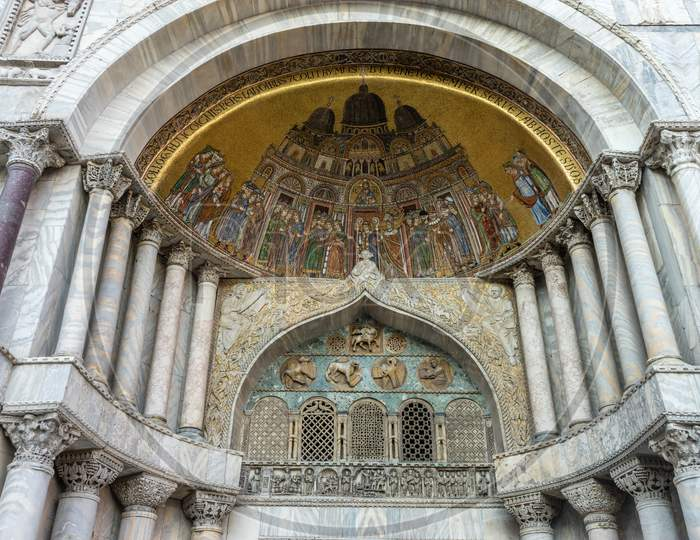 Italy, Venice, St Mark'S Basilica, Low Angle View Of Historical Building