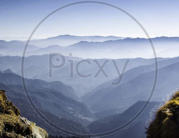 valley view in Uttrakhand, natural layers