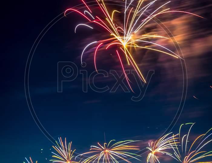 Annual Summer Fireworks Event At Scheveningen Beach In Den Haag On 17Th August By Netherlands