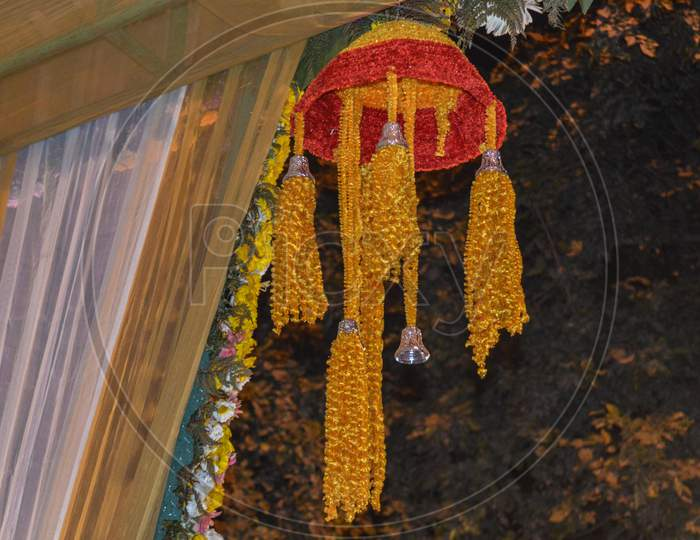 A Beautiful Hanger Decoration In Indian Wedding.