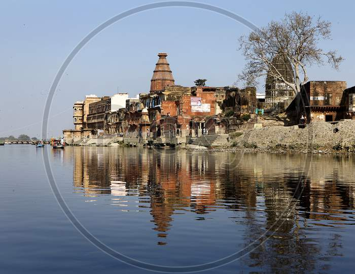 A Temple at the Bank of the River Yamuna