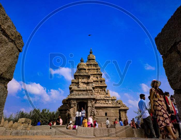 Ancient Shore Temple Build By The King Pallava Of South India