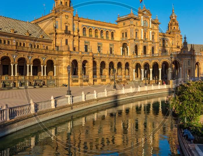 The Plaza De Espana In Seville, Spain, Europe