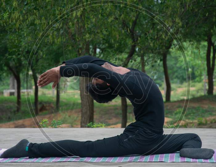 Indian yoga boy