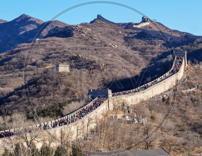 Badaling Section Of The Great Wall Of China Near Beijing