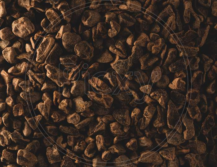 Macro Close Up Picture Of Raw Cacao Nibs