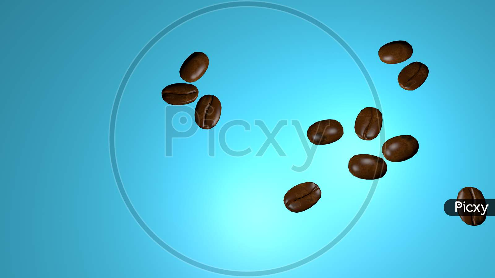 Scattered Roasted Coffee Beans Background With Copy Space For Text