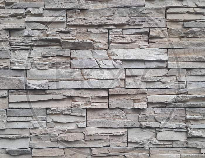 Grey Cement Stone Wall For Texture And Background Abstract