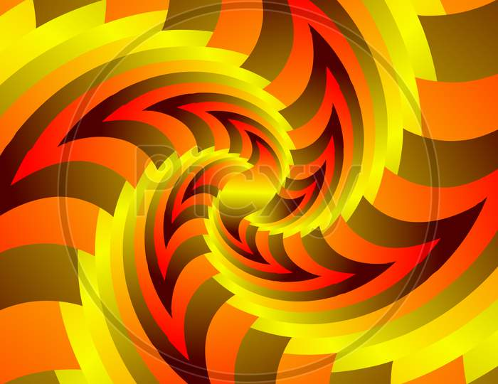 Infinite Geometry Fractal Background Of Spiral Jigsaw Puzzle