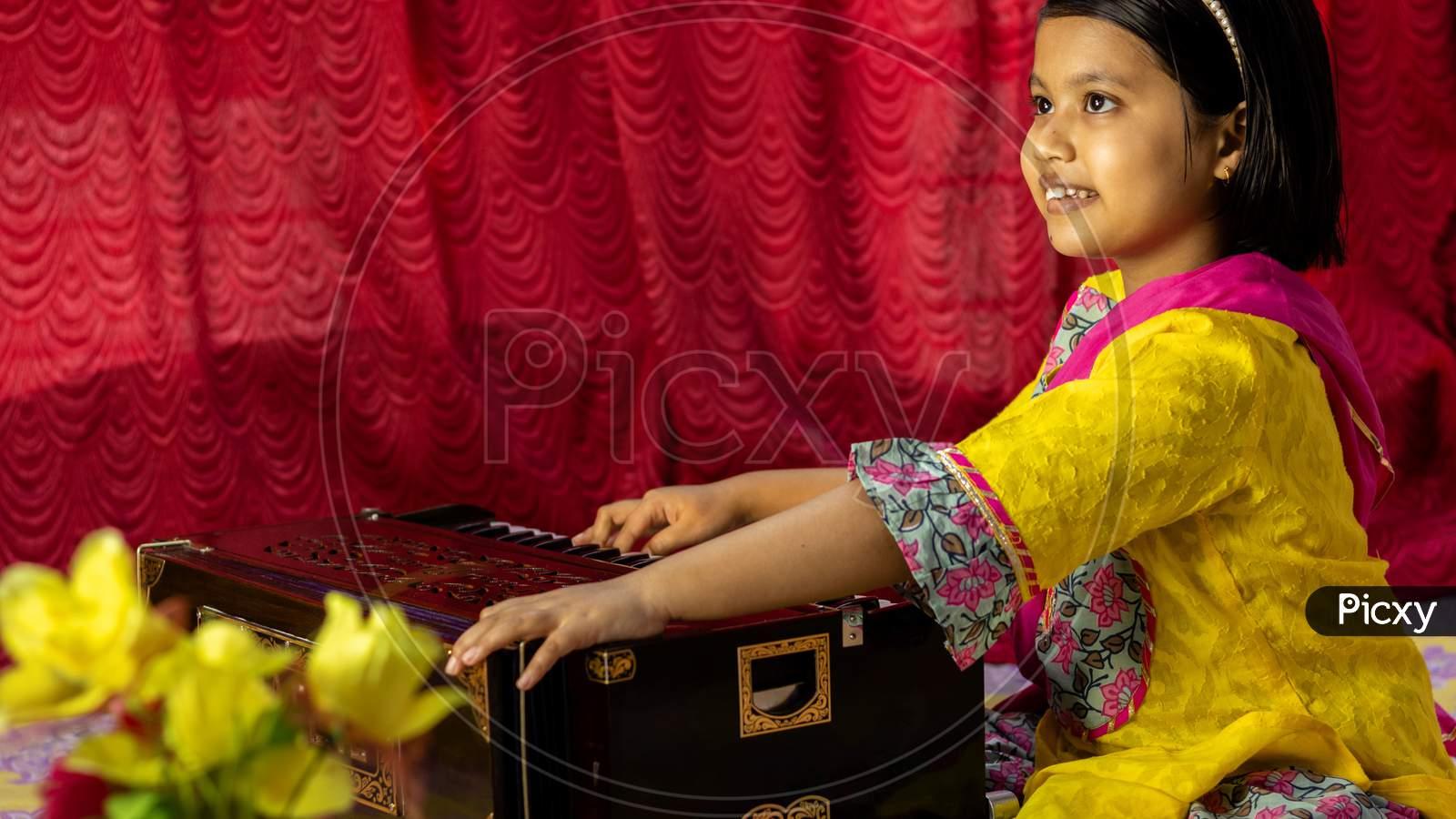 Harmonium - A Hand Made Wooden Musical Instrument