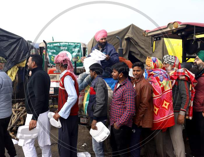Farmers at a Blocked National Highway At  Singhu Border Near New Delhi, On January 10, 2021, During An Ongoing Sit-In Protest Demanding The Rollback Of 3 Government Agricultural Reforms Bill. More Than 60 Protesters Have Died Since The Agitation Began In November-End, Farmer Groups Claim.