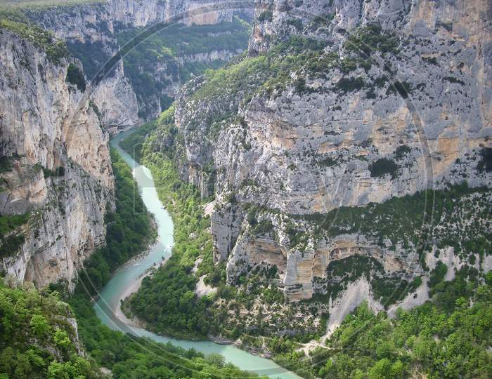Beautiful view into the Gorges du Verdon in the south of France.