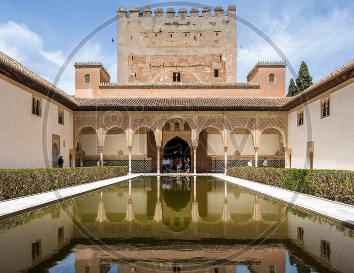 Granada, Andalucia/Spain - May 7 : Part Of The Alhambra  Palace In Granada Andalucia Spain On May 7, 2014. Unidentified People.