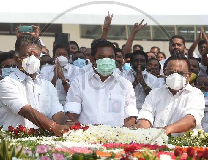 Tamil Nadu Chief Minister Edappadi K Palaniswami And Deputy Chief Minister O Panneerselvam Pay Respect After Inaugurating Jayalalithaa Memorial,
