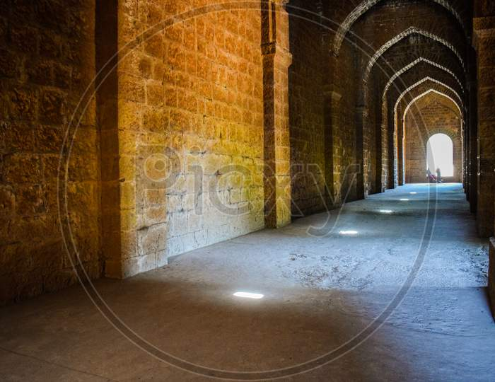 Inside View Of Ancient Panhala Fort In Kolhapur City India.