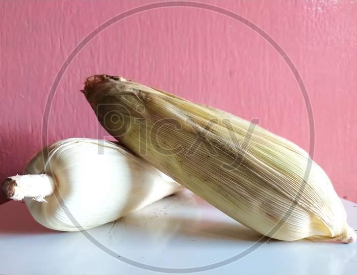Roasted corn sweetcorn Indian village corn