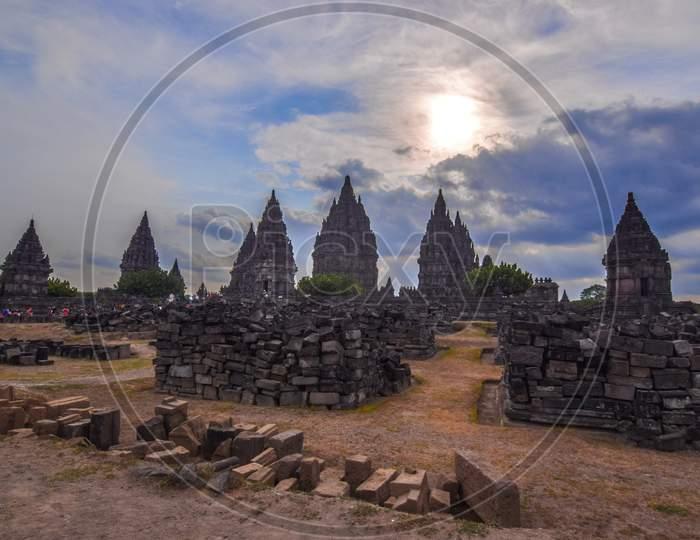 The Prambanan Temples in Jogjakarta Indoneesia