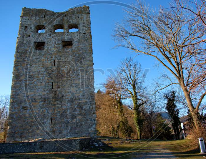 Historic Ruin Blatten In Oberriet In Switzerland 11.1.2021