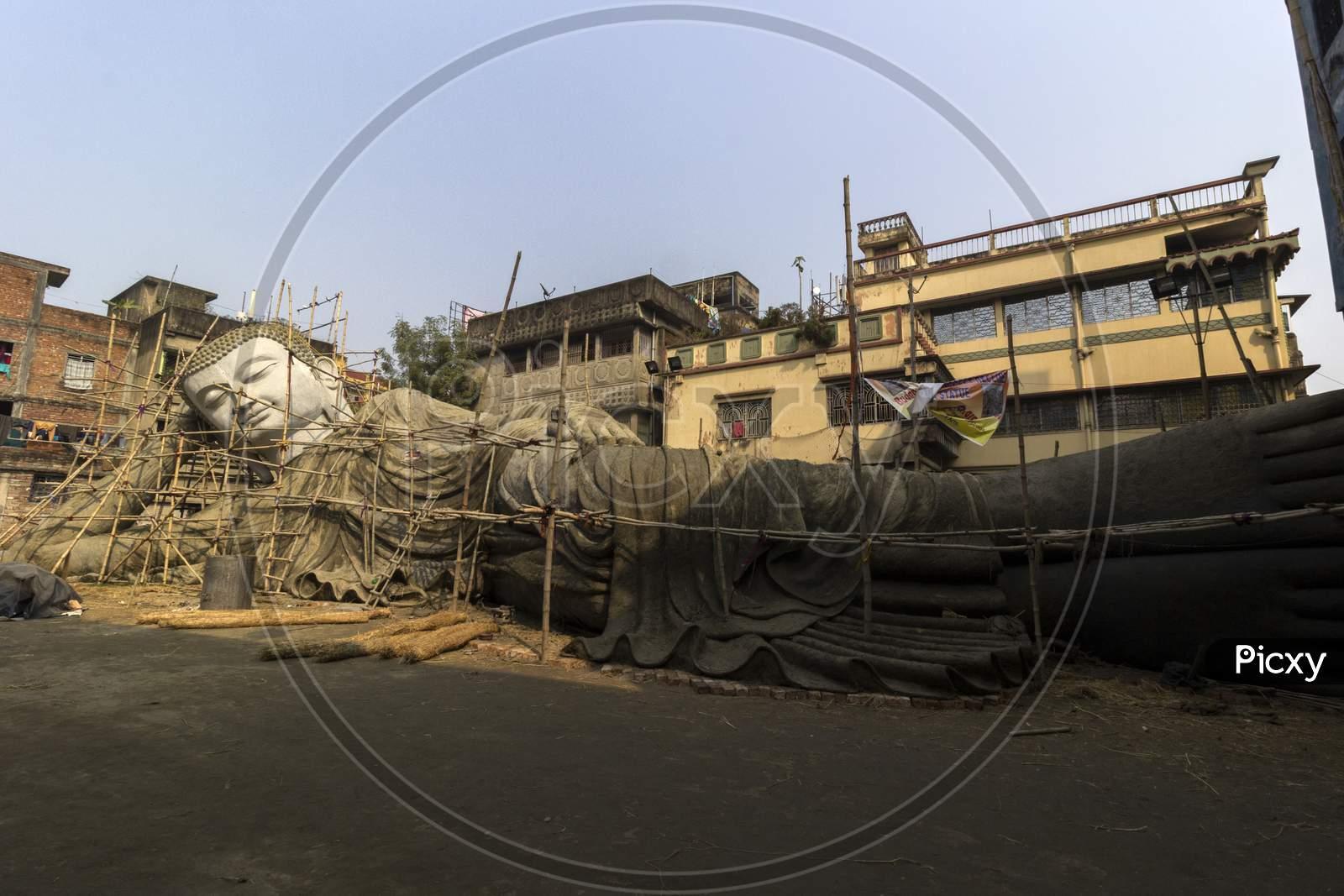 Making The Largest Buddha Statue Of 100 Feet In Kolkata For Buddha Gaya.