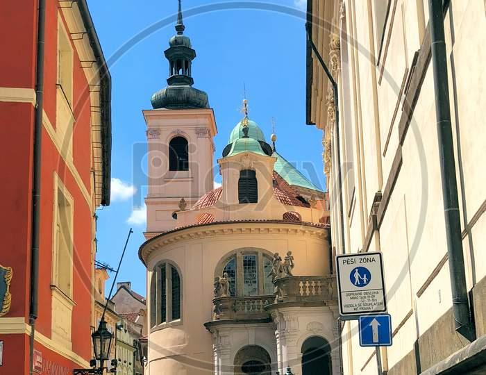 Catholic Church In The City Of Prague In Czech Republic 14.7.2018