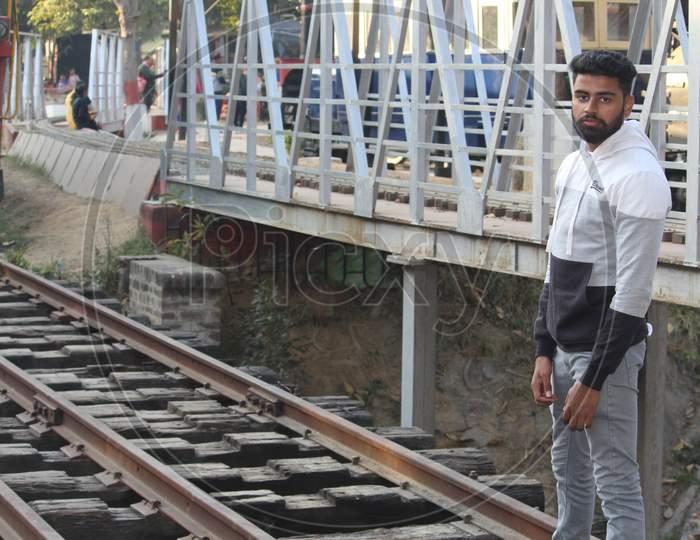 Indian Male model in outdoor photo shooting, Beard Boy