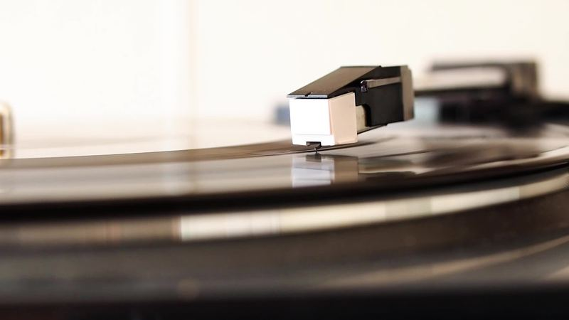 Vinyl record spinning on a turntable video by claudiodivizia